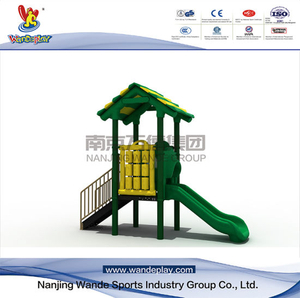 Outdoor Playground Tree House Playset with Slides for Kids