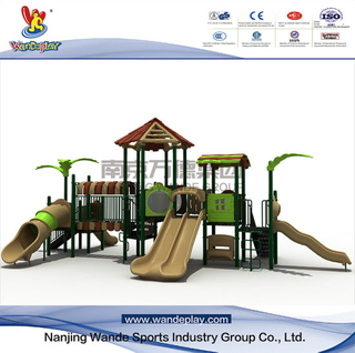 Outdoor Treehouse Playsets with Slide for Backyard