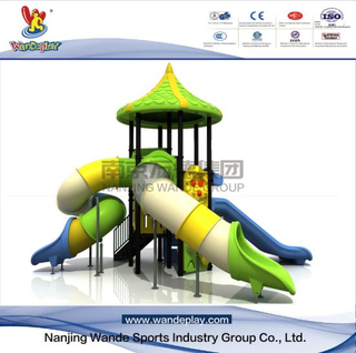 Outdoor Cartoon Playground Equipment with Slides for Schools