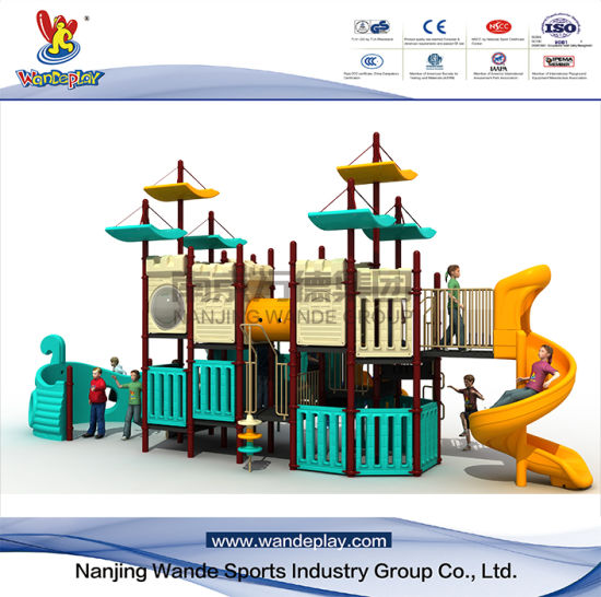 Ourtdoor Plastic Pirate Ship Playset for Kids
