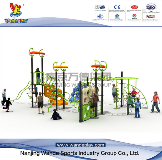 Big Size Outdoor Climbing Wall Playset with Slide