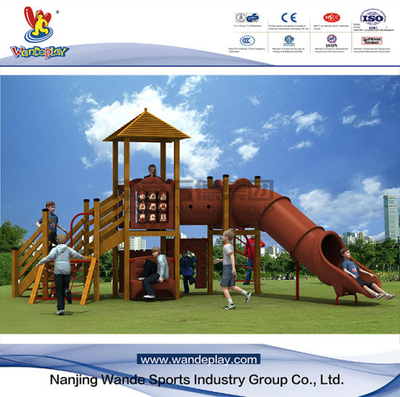 Wandeplay Theme Amusement Park Children Outdoor Playground Equipment with Wooden Structure with Wd-TM134
