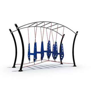 Outdoor Obstacle Race Playground Airborne Equipment for School