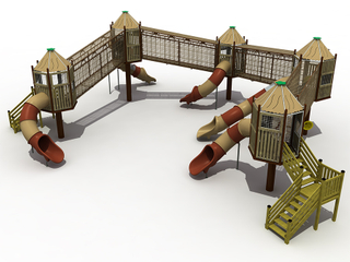 Outdoor Kids Wooden Play House Playground