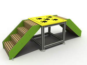 Commercial Outdoor Dog Park Walk Ramp Training Set for Pets Playground