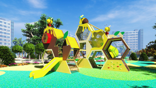 Outdoor PE Honeycomb Playground Equipment for Kids