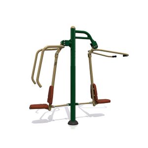 Combi Pull Down Challenger & Power Push Outdoor Fitness Equipment For Adults