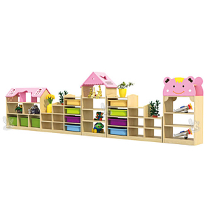 Children Indoor Classroom Furniture Cabinet for Kindergarten