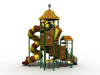 Outdoor Kids Wooden House Club Playground Equipment