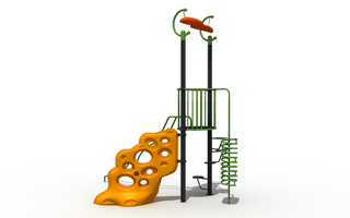 Outdoor Kids Rock Climbing Wall Playground Playset for Adventure Park
