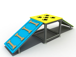 Outdoor Dog Park Walk Ramp Training Equipment for Pets Playground
